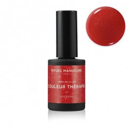 STILETTO - VERNIS PERMANENT 15ML - VERNIS ROUGE PAILLETÉ